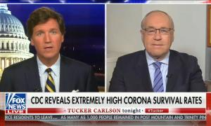 chyron reads: CDC reveals extremely high corona survival rates