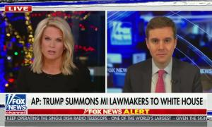"chyron reads, ""AP: TRUMP SUMMONS MI LAWMAKERS TO WHITE HOUSE"""