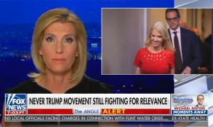 """chyron reads, """"NEVER TRUMP MOVEMENT STILL FIGHTING FOR RELEVANCE"""""""