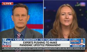 chyron reads: Experts pushing to make pandemic lifestyle permanent