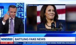 "Newsmax host criticizes Kamala Harris for ""all of this girl power stuff"""