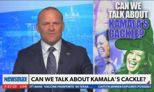 "Newsmax host mocks Kamala Harris' ""cackle,"" calling her ""the Wicked Witch of the West"""
