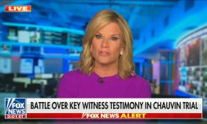 "chyron reads, ""BATTLE OVER KEY WITNESS TESTIMONY IN CHAUVIN TRIAL"""