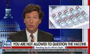 Tucker Carlson vaccines question