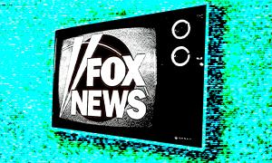 Fox News logo on a TV