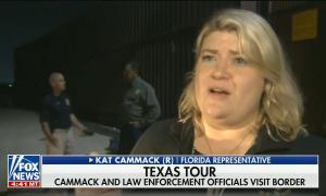 "chyron reads: ""TEXAS TOUR: CAMMACK AND LAW ENFORCEMENT OFFICIALS VISIT BORDER"""