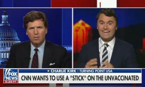 "Charlie Kirk calls vaccinations efforts ""virtue signaling"""