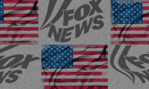 Fox and flags