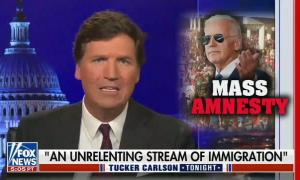 """Tucker Carlson calls Biden's immigration policy """"the great replacement"""" and """"eugenics"""""""