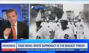 Newsmax host claims that there hasn't been a white supremacist demonstration since 1923