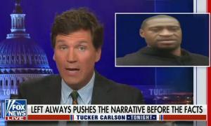 Tucker Carlson repeats racist lie that George Floyd died of a drug overdose