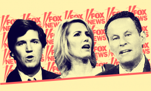 Fox hosts Tucker Carlson, Laura Ingraham, and Brian Kilmeade