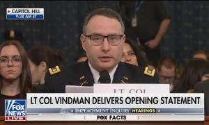 Lt Col. Vindman testifying