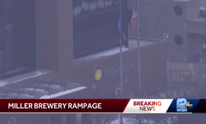 Local media cover workplace mass shooting in Milwaukee