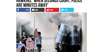 "Breitbart's AWR Hawkins says protests prove ""when seconds count, police are minutes away"""