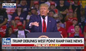 "Fox News: ""Trump debunks West Point ramp fake news"""