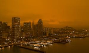 wildfire / climate change / orange sky / san francisco / 9/9/20