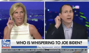 Trump campaign conspiracy theory about alleged secret listening device in Biden's ear echoes segment from Laura Ingraham's show