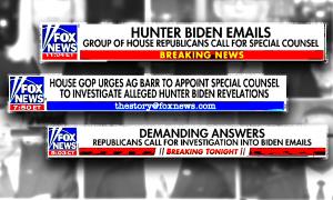 Fox News chyrons about Hunter Biden