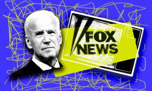 Joe Biden with the Fox logo
