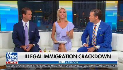 Fox & Friends co-hosts Griff Jenkins, Ainsley Earhardt, and Pete Hegseth