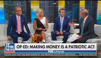Fox's Steve Doocy, Ainsley Earhardt, Pete Hegseth, and Stuart Varney