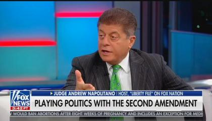 Fox News senior judicial analyst Andrew Napolitano