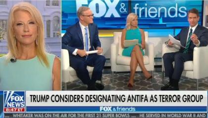"""Fox & Friends suggests that Antifa stands for """"anti-first amendment"""""""