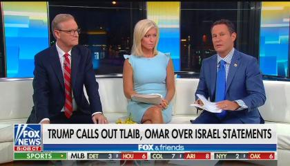 ​Fox & Friends hosts Steve Doocy, Ainsley Earhardt, and Brian Kilmeade​