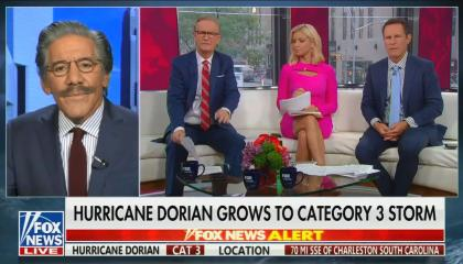 Geraldo Rivera Fox & Friends Dorian