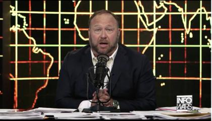 Alex Jones spreads conspiracy theories about Hurricane Dorian