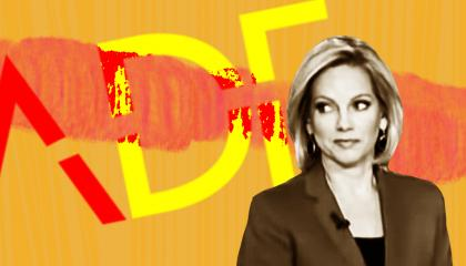 Shannon Bream next to ADF's logo