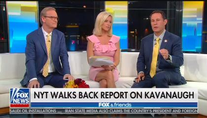 Fox & Friends co-hosts Steve Doocy, Ainsley Earhardt, and Brian Kilmeade