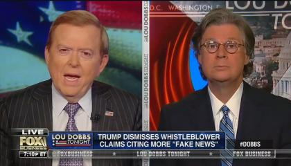 "Lou Dobbs: ""What are the odds"" whistleblower complaint against Trump ""is just pure nonsense, bunkum"""