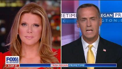 "Fox Business' Trish Regan lets Corey Lewandowski claim Bernie Sanders and Elizabeth Warren ""want to have illegal aliens come across this border and kill Americans"""