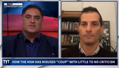 "On The Young Turks, Angelo Carusone explains how right-wing's ""coup"" messaging is designed ""to stoke their extremists"""