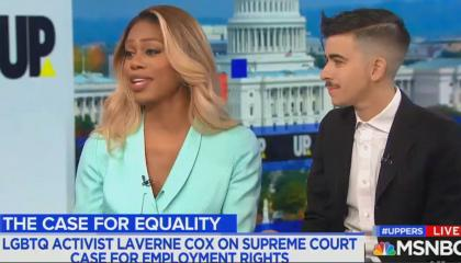 Laverne Cox and Chase Strangio