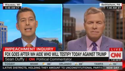 CNN host lets Sean Duffy question Lt. Col. Vindman's loyalty to the US, then calls his comments a ridiculous right-wing attack