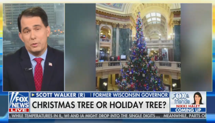 Scott Walker starts 2019's war on Christmas