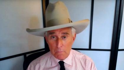 A picture of Roger Stone in a hat