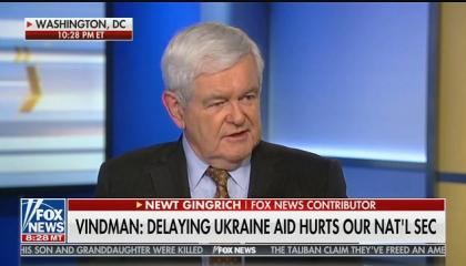 "Fox's Newt Gingrich: Lt. Col. Vindman ""is an absurdity"" and ""thinks that he knows so much"""