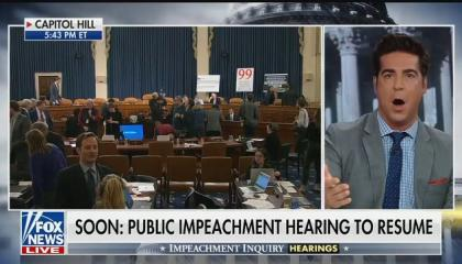 "Jesse Watters downplays impeachment hearings as ""cliques of people talking about their feelings"""