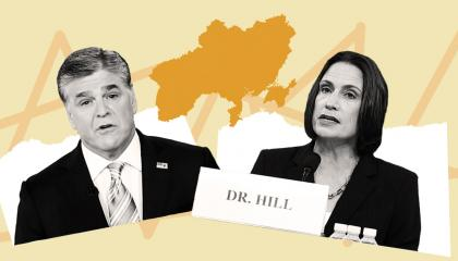 "Fiona Hill testified on the dangers of the ""fictional narrative"" of Ukrainian collusion -- the same conspiracy theory Fox News has relentlessly pushed for years"