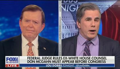 "Tom Fitton: Ruling that McGahn must testify before Congress is ""a real assault on the presidency"""