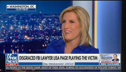 Laura Ingraham and guests mock Lisa Page for being emotional over personal attacks from President Donald Trump