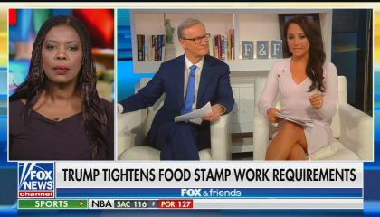 Fox & Friends co-hosts Steve Doocy and Emily Compagno with Star Parker