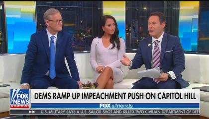 Fox & Friends co-hosts Steve Doocy, Emily Compagno, and Brian Kilmeade