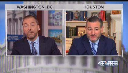 Meet the Press moderator Chuck Todd and Sen. Ted Cruz (R-TX)