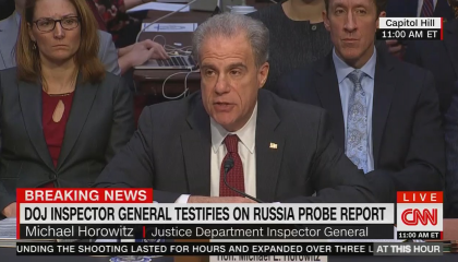 """The Federalist falsely claimed that CNN and MSNBC """"refuse to air"""" Senate Judiciary hearing on IG report findings live"""