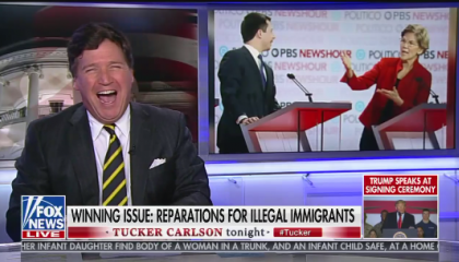 Tucker Reparations for Illegals